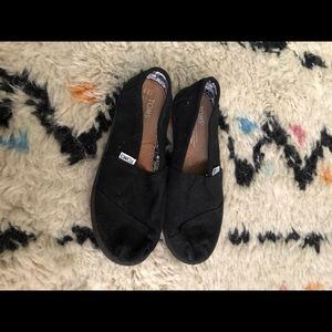 Black canvas Toms- worn once!